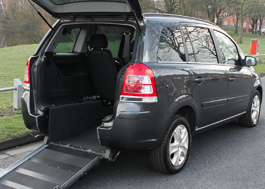 Vauxhall Zafira ramp at the rear.