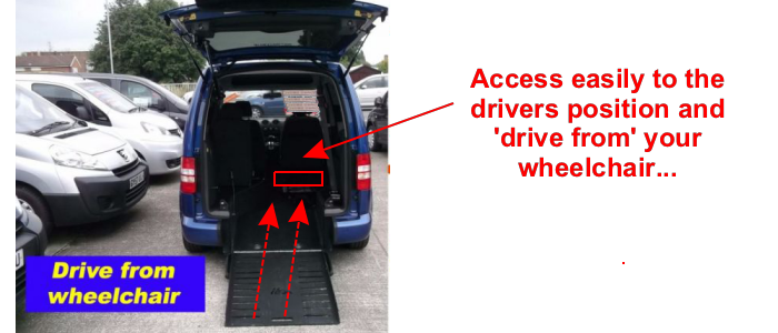 Self drive car with easy wheelchair access