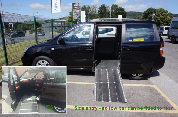 Side entry WAV is best for a tow bar to be fitted to rear